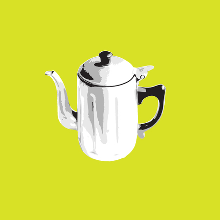 tracing: Object kettle tea pot graphic tracing