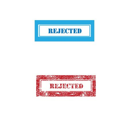 rejected: Imprint rejected texture stamp vector