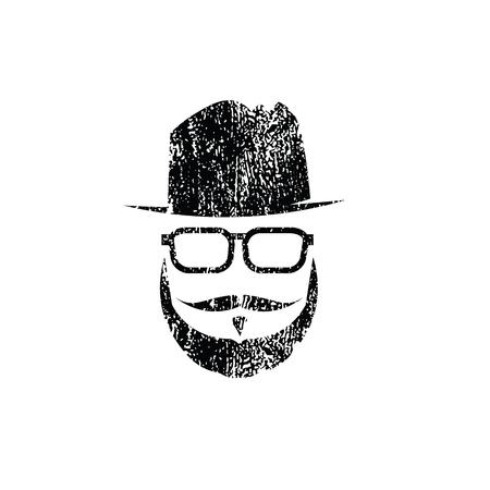 Les gens Hipster vecteur homme grec