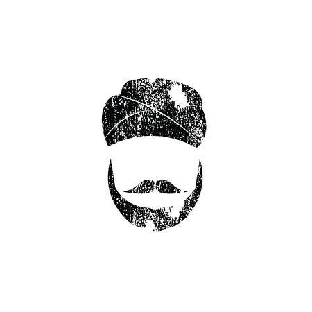 sikh: People Sikh man graphic icon stamp