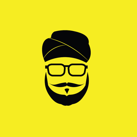 sikh: People Sikh man graphic icon Illustration