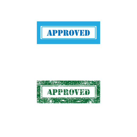imprint: Imprint approved texture stamp vector Illustration