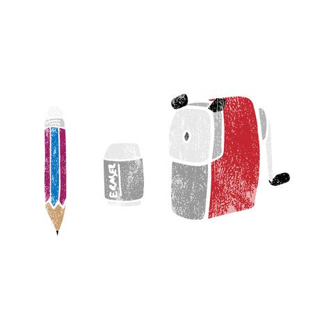 sharpening: Stationery object pencil sharpener cartoon stamp