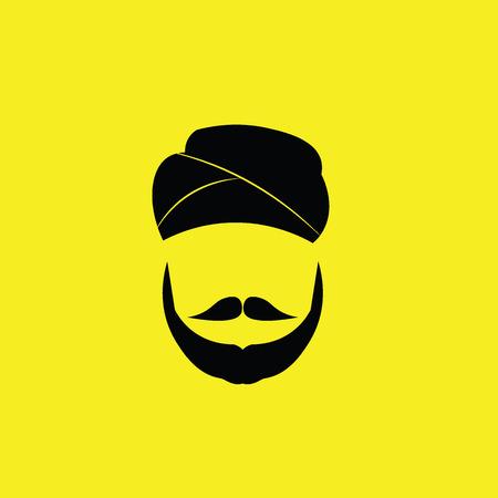 People Sikh man graphic icon Illustration