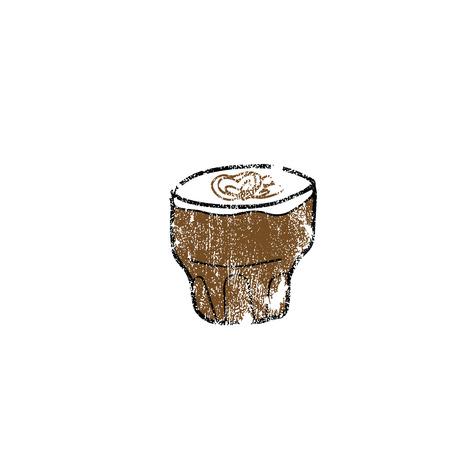 aroma: Drink aroma coffee cartoon drawing