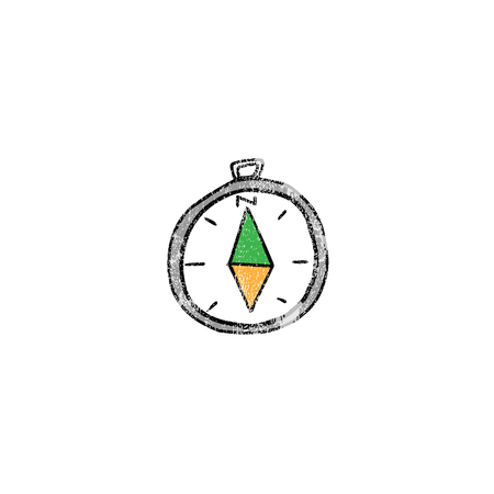 navigation object: Object compass navigation gadget cartoon Illustration