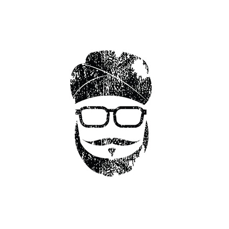 People Sikh man graphic icon stamp