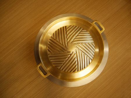 pan asian: Korean brass pan Asian kitchenware