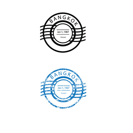 postal: Postal imprint stamp graphic texture