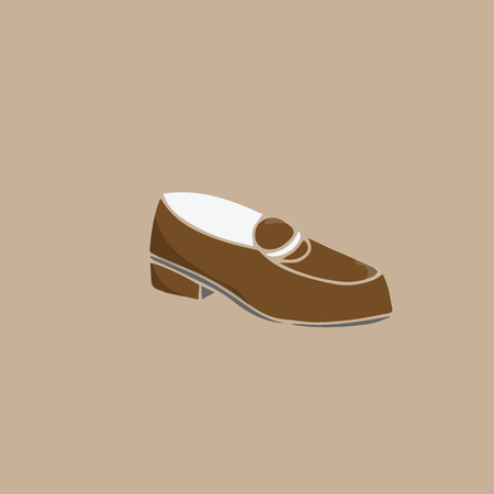 leather shoes: Footwear fashion leather shoes cartoon drawing