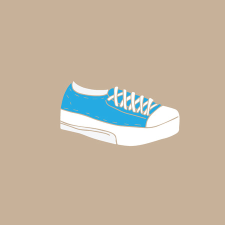 shoes cartoon: Footwear fashion canvas shoes cartoon drawing