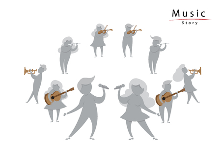 unidentified: Unidentified people perform music instruments