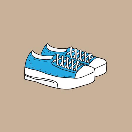 footwear: Footwear fashion canvas shoes cartoon drawing