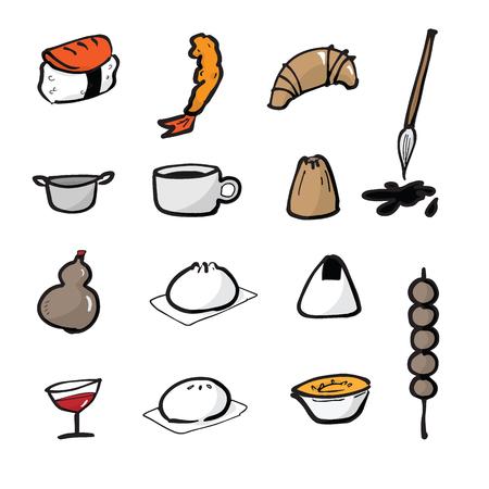 dim: Dim Sum Chinese food icons set