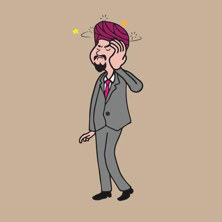 dizzy: Health Sikh man dizzy cartoon drawing