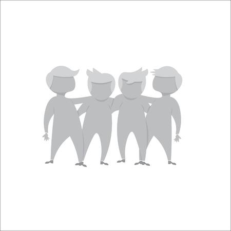 business team: People team hugging business friendship