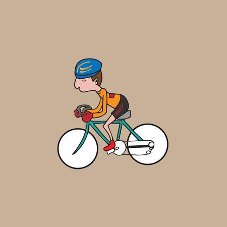 ridding: Sport man ridding bicycle vector