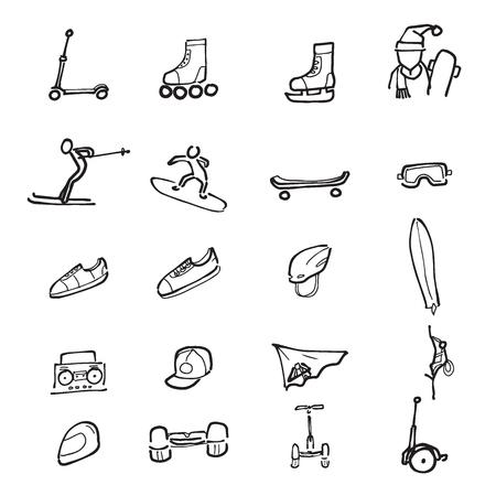 ingranaggi Sport Icone disegno a fumetti