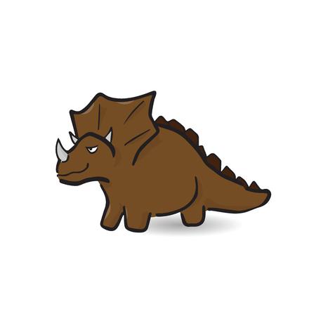 triceratops: Triceratops extinct dinosaur cartoon drawing