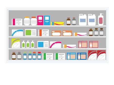 Pharmacie drogue étagère à l'hôpital Banque d'images - 65998322