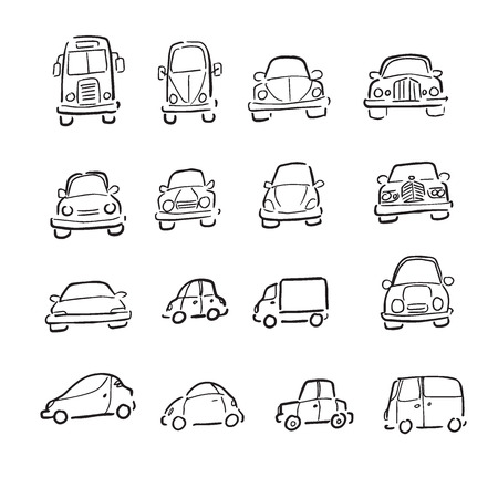 Dibujo De Dibujos Animados De Autos Y Embarcaciones De Vehiculos