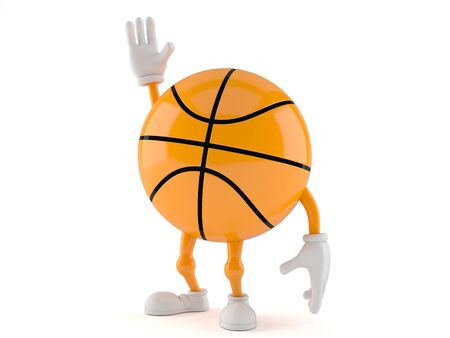 Basketball character isolated on white background