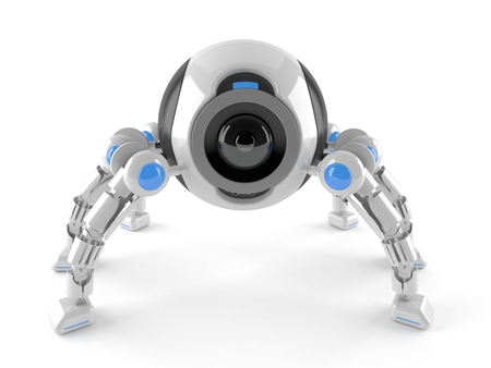Spider robot isolated on white background