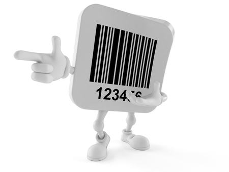 Barcode character isolated on white background Banco de Imagens