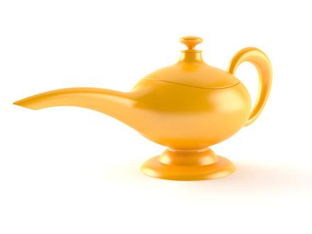 Aladdin lamp isolated on white background
