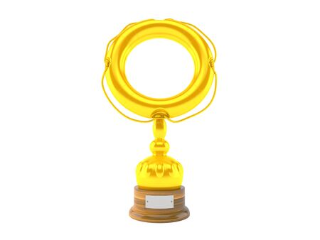 Support trophy isolated on white background