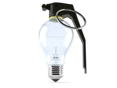Light bulb with fuse isolated on white background