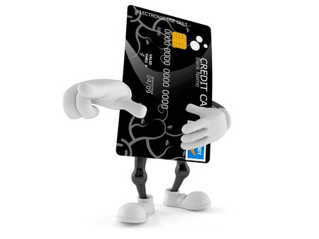 creditcard: Credit card character isolated on white background