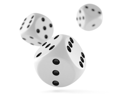 Dice isolated on white background