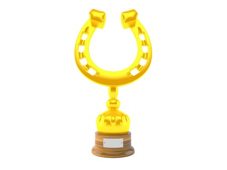 champ: Horse trophy isolated on white background