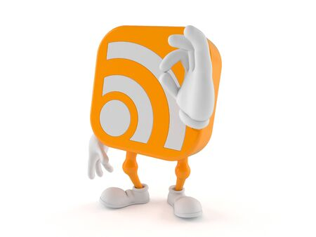 all ok: RSS character with ok gesture isolated on white background Stock Photo