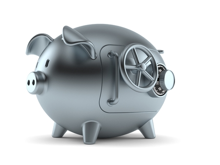 Piggy bank concept isolated on white background Stock Photo