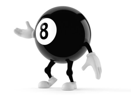 Eight ball character isolated on white background Stock Photo