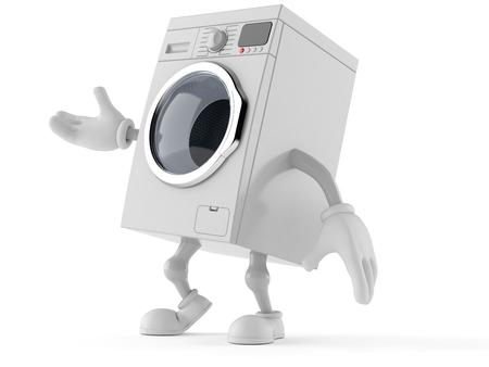 Waschmaschine Toon isoliert auf weißem Hintergrund