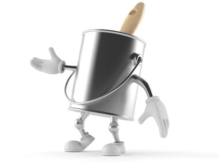 paintcan: Paint can character isolated on white background