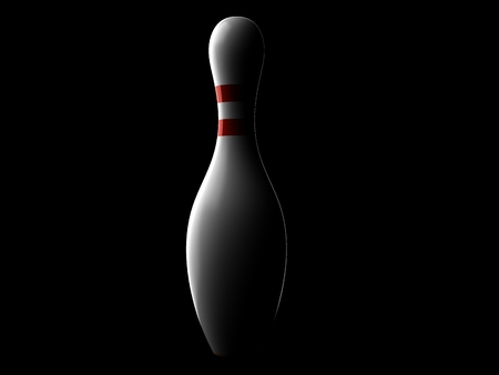 Ten pin isolated on black background