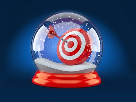 3d ball: Christmas glass ball with bulls eye isolated on white background