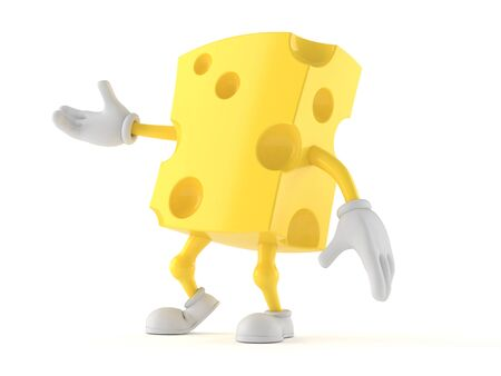 Cheese character isolated on white background