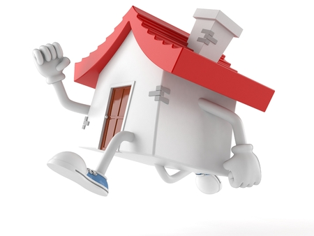 House character running on white background
