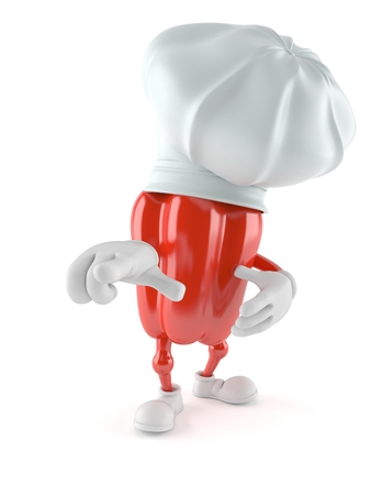 cook out: Paprika character isolated on white background Stock Photo