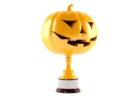 Halloween award geïsoleerd op een witte achtergrond Stockfoto