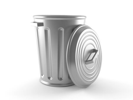 Trash can isolated on white background Standard-Bild