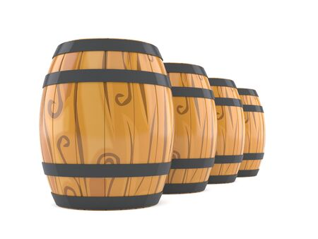 Barrels isolated on white background