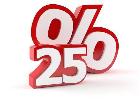 Percent symbol isolated on white background