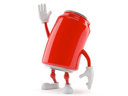Soda character isolated on white background Stock Photo