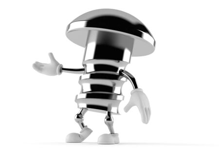 Bolt character isolated on white background Stock Photo
